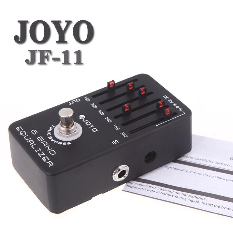 Joyo JF-11 EQ égaliseur 6 bandes effet guitare pédale True dérivation accessoires guitare
