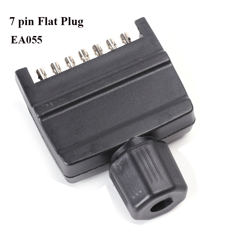 12v 7 pin flat trailer plug  waterproof truck socket adapter connector caravana rv car accessory campe autoparts New Zealand-in Trailer Couplings & Accessories from Automobiles & Motorcycles