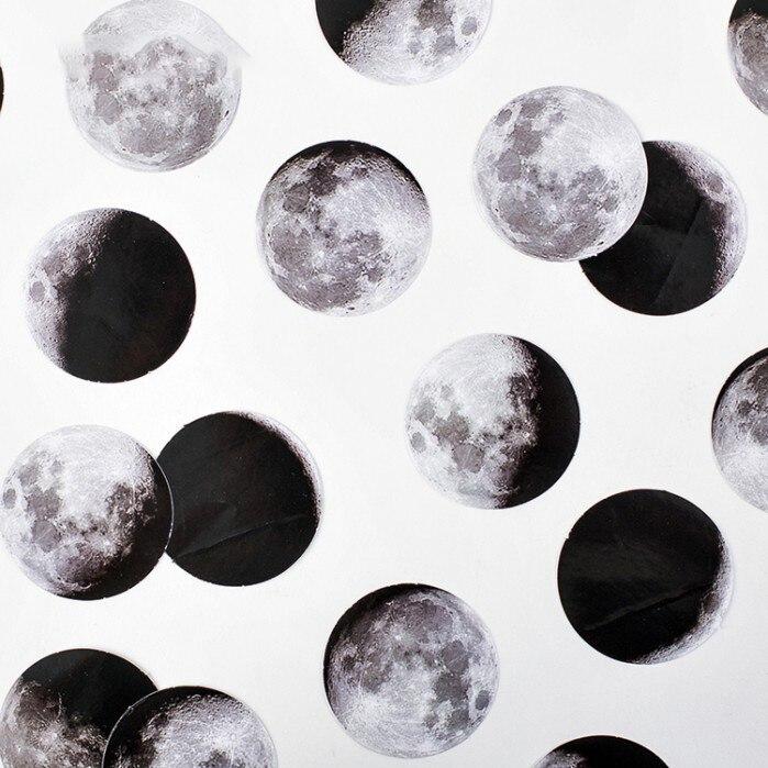 44pcs moon light design sticker as Gift Tag Christmas gift Decoration scrapbooking DIY Sticker