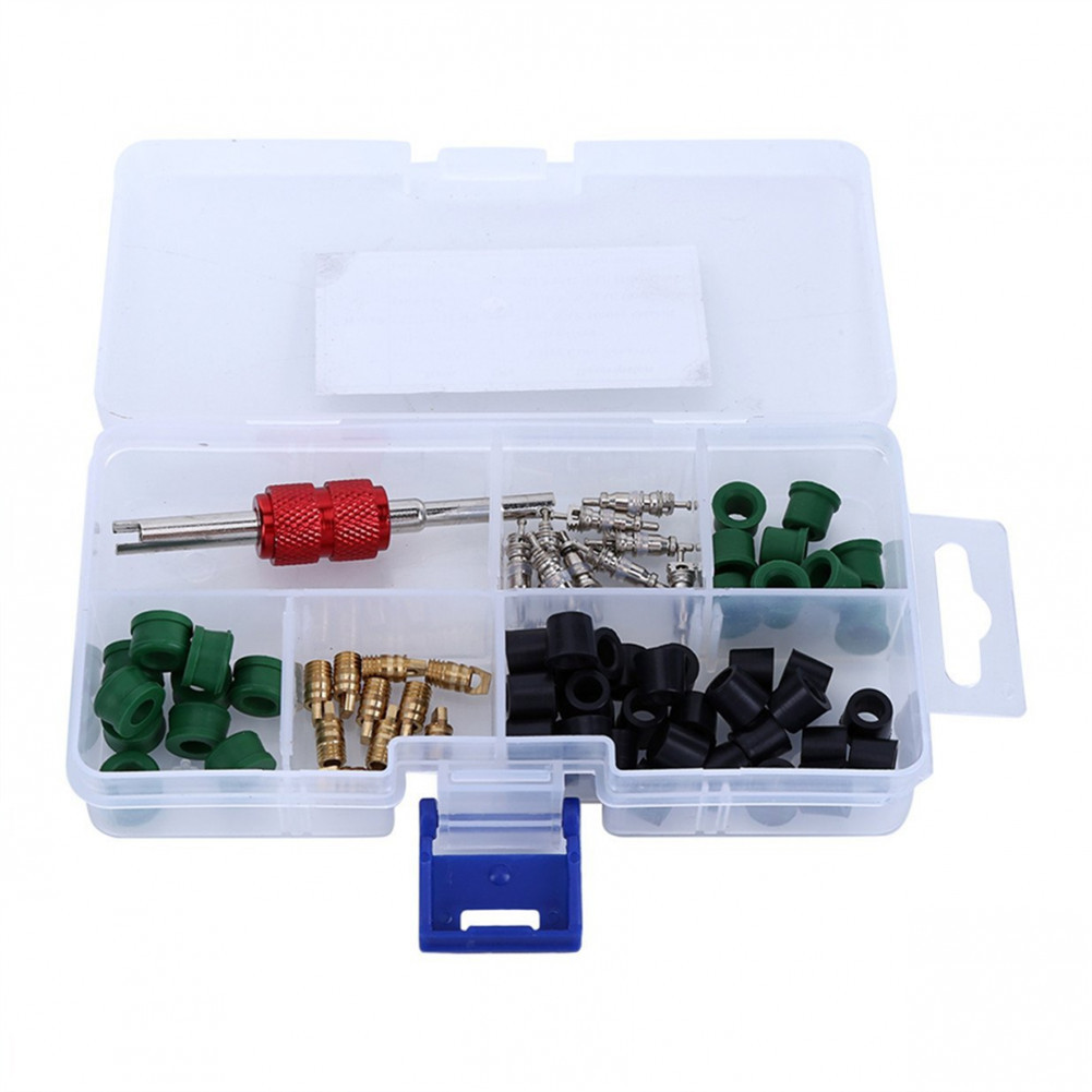 A/C Rubber Gasket+ <font><b>AC</b></font> Valve Core+ Remover <font><b>Tool</b></font> Assortment Kit Auto Car Air Conditioning Assortment Remover image