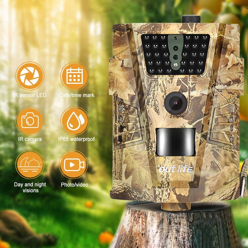Outlife Trail Camera Trap Infra Angle 12mp-30pcs 1080P 850nm Leds 120-Degree