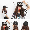 2016 New Fashion cat baseball snapback hats and caps for men/women cute summer sun hat flat brim hip pop cap