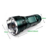 Akumulator 20 W Przenośne Zewnątrz Zoom Wędkarstwo Noc Latarka LED 15 W UV Latarka LED Niebieski/Żółty/Biały/Wiązki Światła UV