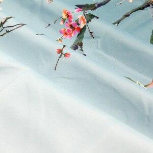 Image 2 - סיני ציפורים שיפוע מקלחת וילונות אמבטיה עורב צמחים ירוק עמיד למים בד פוליאסטר אמבט דקור 180x180cm