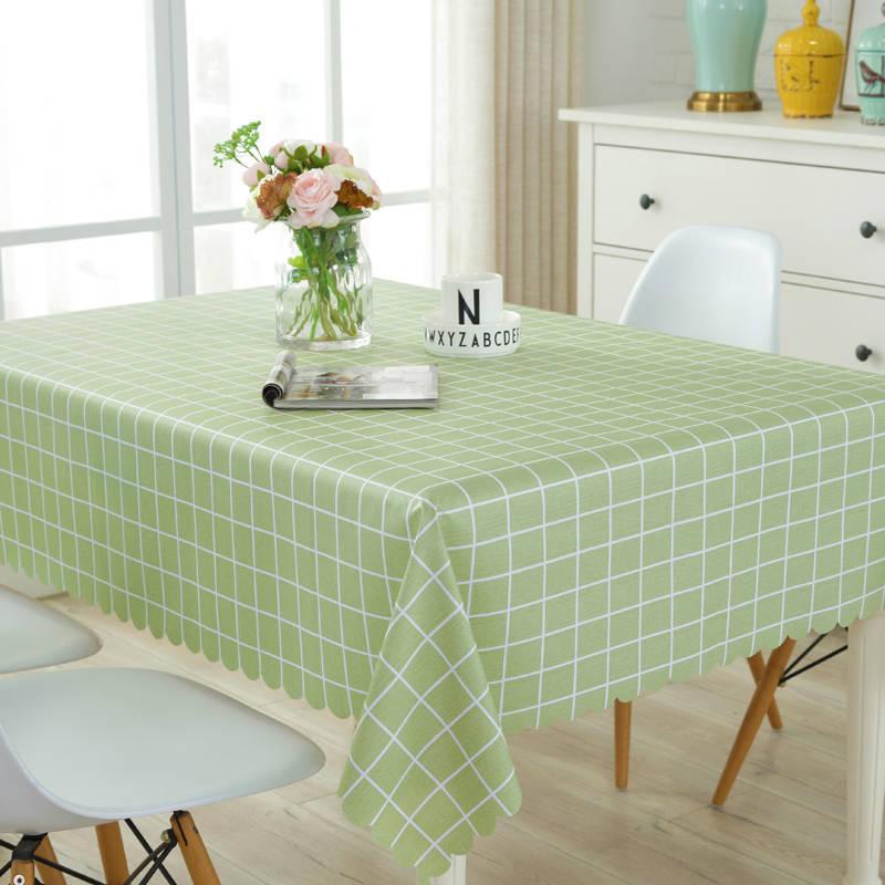 Клетчатый ПВХ чехол в японском стиле для защиты стола, милый водонепроницаемый коврик для дивана, обеденная скатерть, скатерть