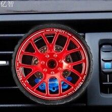 Perfume Ambientador De Aire Del coche mini cubo de la rueda YZ chica cool car styling