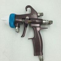 SAT1202 airbrush sprayer high pressure paint gun pressure feed automotive paint gun chrome plating dual nozzle spray gun
