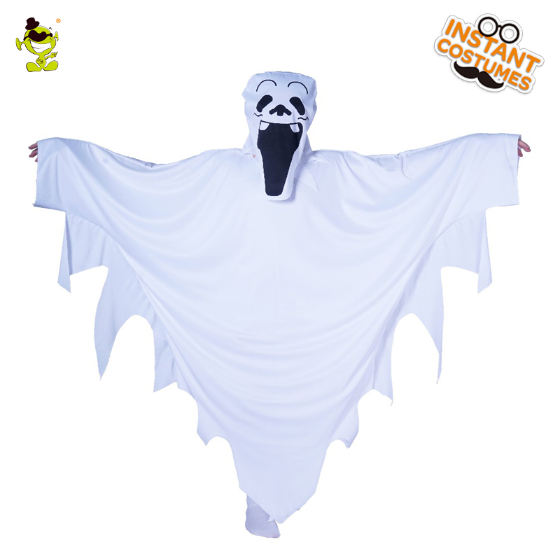 New white Cloak Kids Halloween ghost costumes cosplay Children ghost costumes with mask Halloween party ghost cosplay costumes