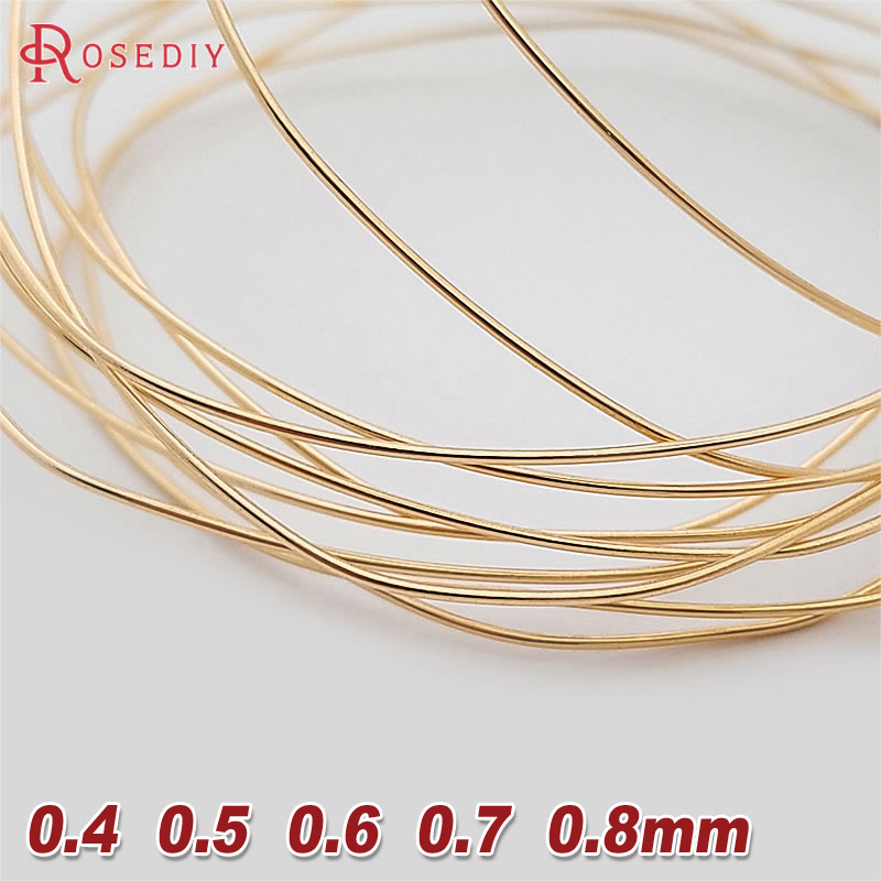 5 Meters 0.4MM 0.5MM 0.6MM 0.7MM 0.8MM 24K Gold Co
