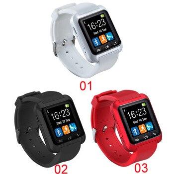 Sıcak Smartwatch Bluetooth akıllı saat U8 iPhone IOS Android Akıllı Telefon için Aşınma Saat Giyilebilir Cihaz Smartwatch PK U8 GT08 DZ09