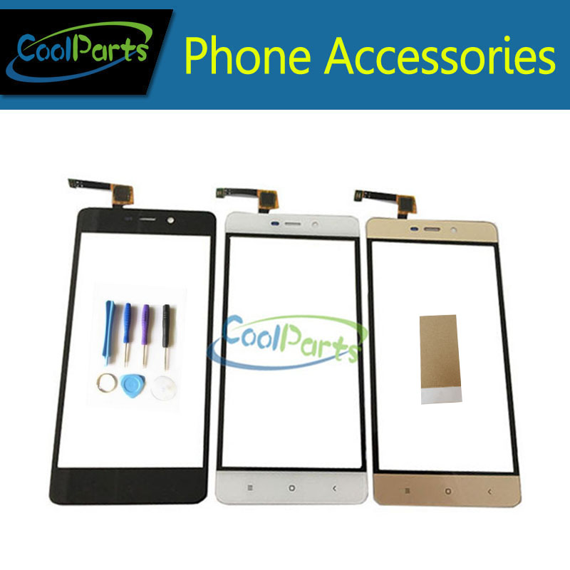 1PC/Lot 5.0Inch For Xiaomi Redmi 4 Pro 4Pro Touch Screen Digitizer Touch Panel Lens Glass With Tool &Tape Black White Gold Color