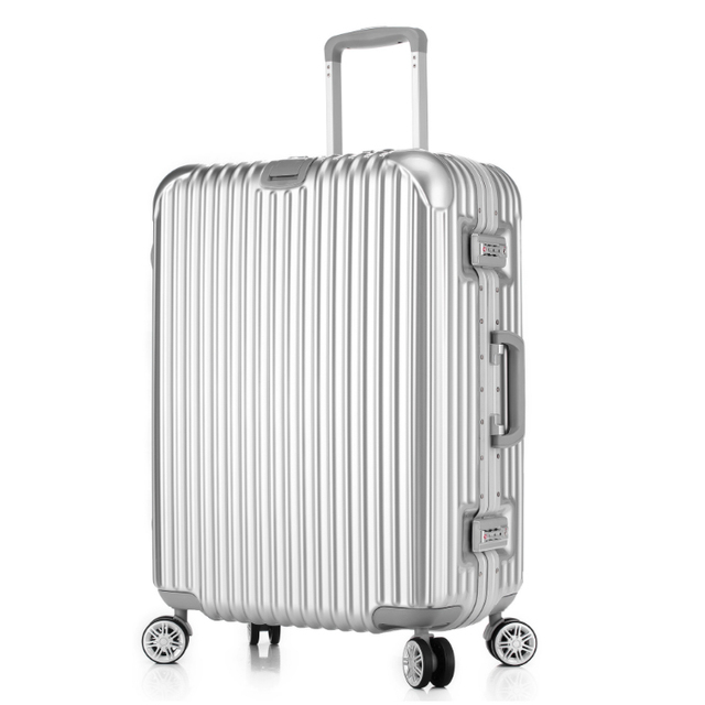 20,24,26,29'' Classic TSA Lock Trolley Aluminum Frame Suitcase Luggage/ Pull Rod Trunk /Traveller case box with spinner wheels