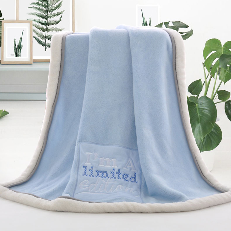 Coral Fleece Baby Blanket Cartoon Character Fleece Blanket Swaddle Receiving Stroller Wrap Newborn Baby Bedding Blankets