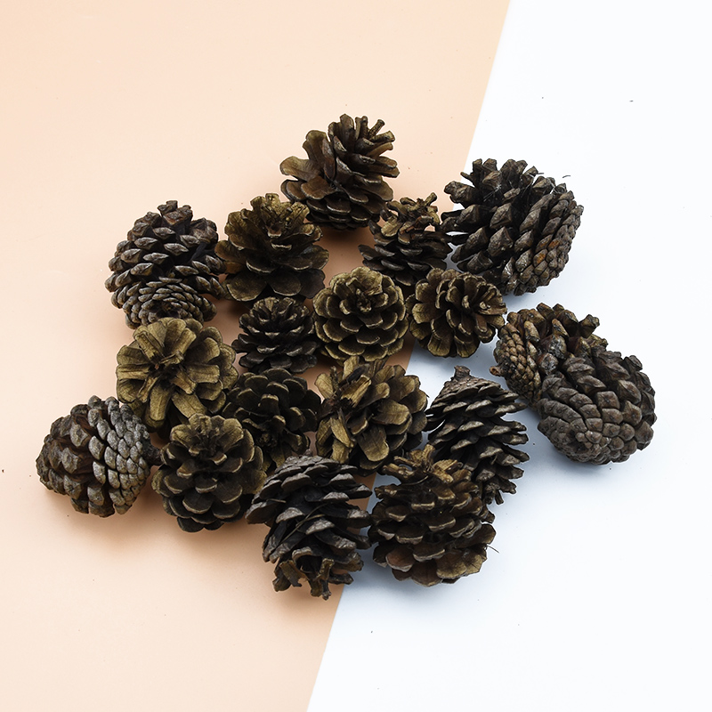 Artificial Plants Pine Cone Christmas Tree Decorations For Home Scrapbook Pompons Decorative Flowers Wreaths Household Products