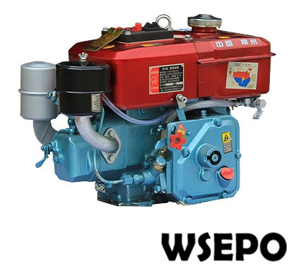 Factory Direct Supply! WSE-R175 5HP Horizontal Water Cooled 4-stroke Small Diesel Engine Applied for Generator/Cultivator/Boat 6162 63 1015 sa6d170e 6d170 engine water pump for komatsu