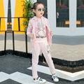 3 Шт. Милые Дети Девушки Одежда Набор 2017 Новая Мода Девушки спорт Установить дети дети повседневная 3 цвет символов новорожденных девочек бренд набор