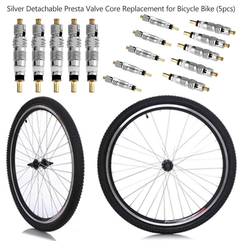 10pcs Silver Bike Valve Core Replacement French Air Pump Bicycle MTB/Removal Tool Cycling Accessories Wholesale Hot