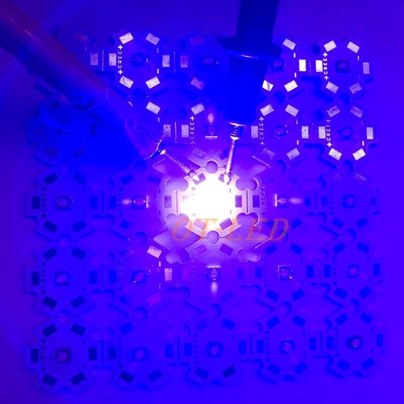 1 PZ 3 W 5 W LG3535 430NM a pianta 440NM blu aquarium blu UV/Ultra Violet High Power LED Emitter Diode