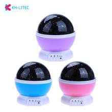 Rotating Projector Starry Night Lamp Sky Star Children Kids Baby Sleep Romantic LED USB Projection Lights Xmas Holiday Gift