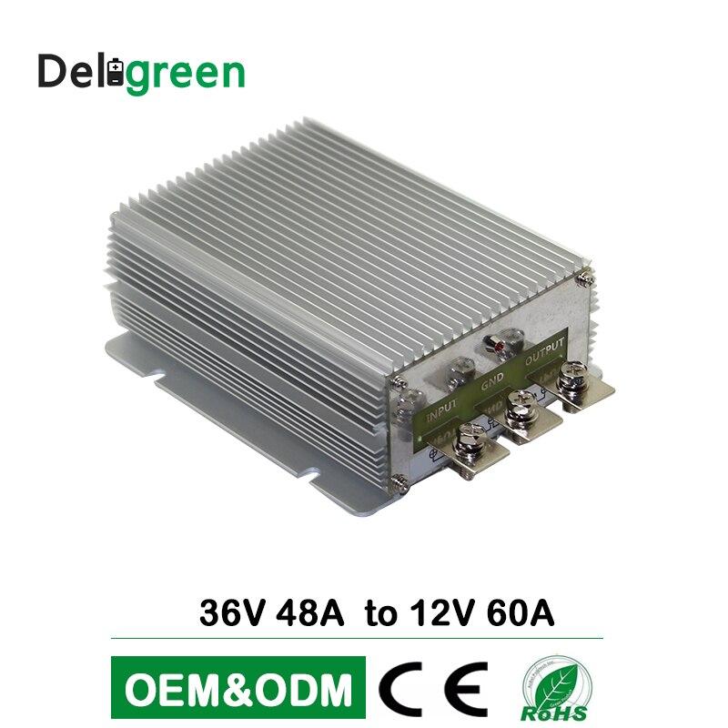 36V48V à 12V 60A 720W large entrée DC DC convertisseur régulateur voiture abaisseur réducteur Buck convertisseur alimentation