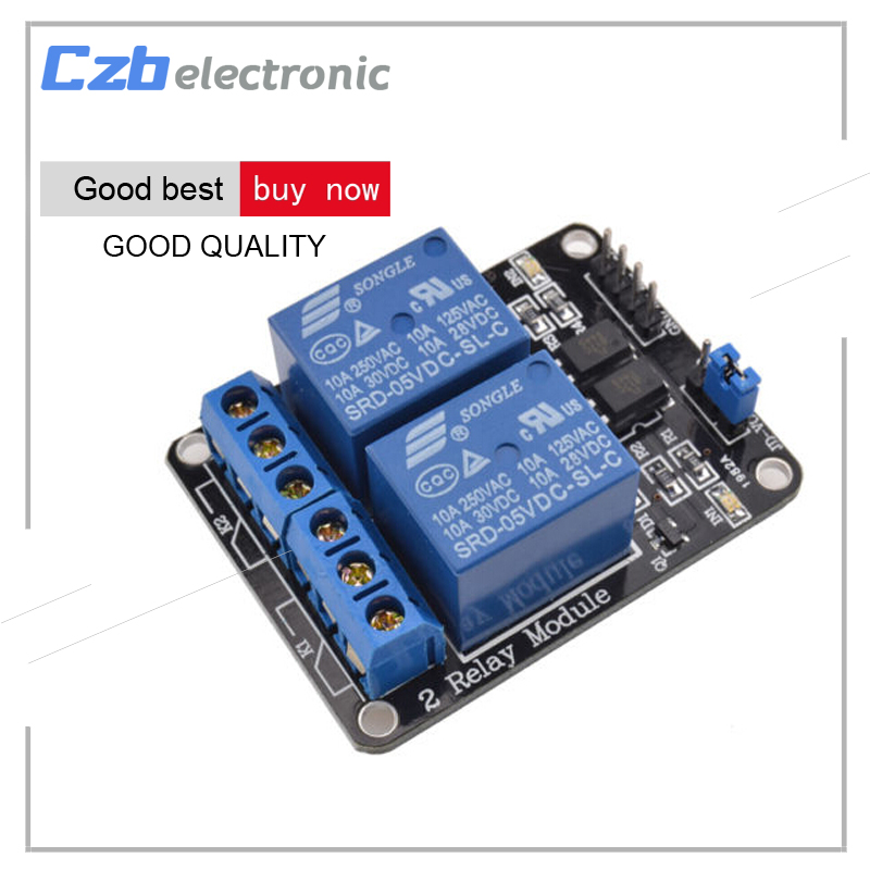 5V 2 Channel Relay Module for Arduino Uno R3 Raspberry Pi 5v 2 channel ir relay shield expansion board for arduino