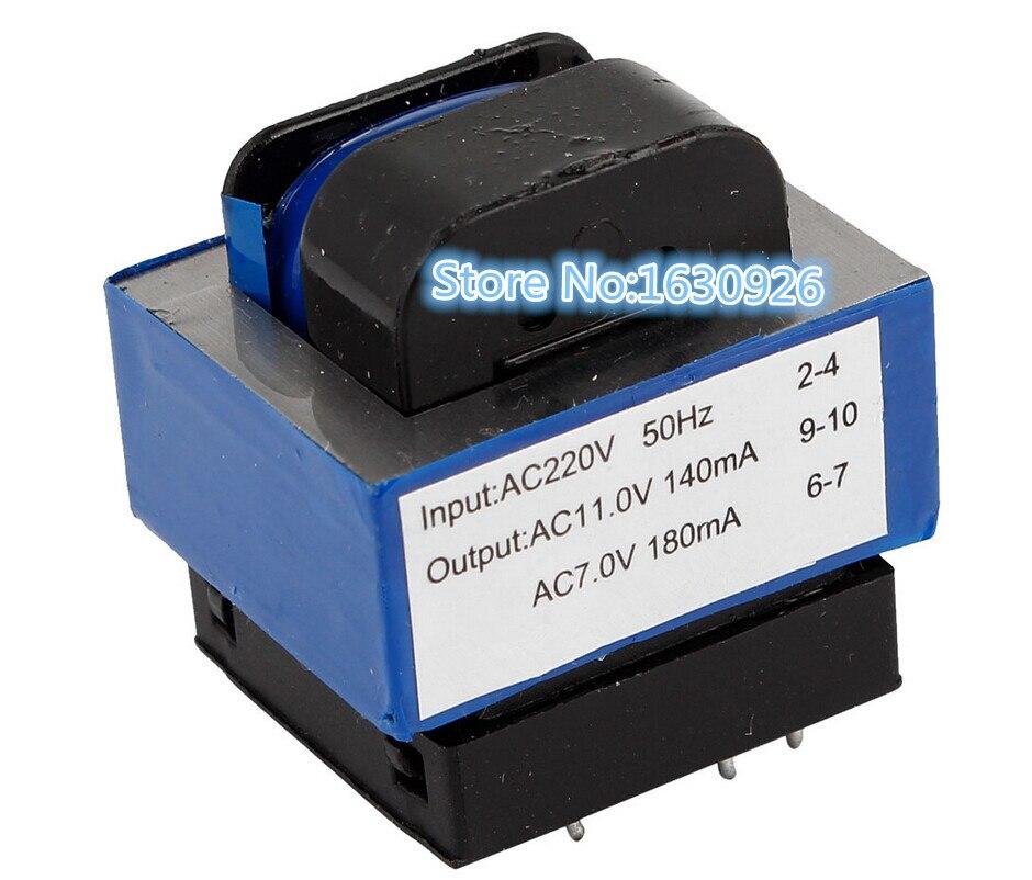Free Shipping 1pcs Ac 220v To 11v 7v 140ma 180ma 7 Pin Microwave