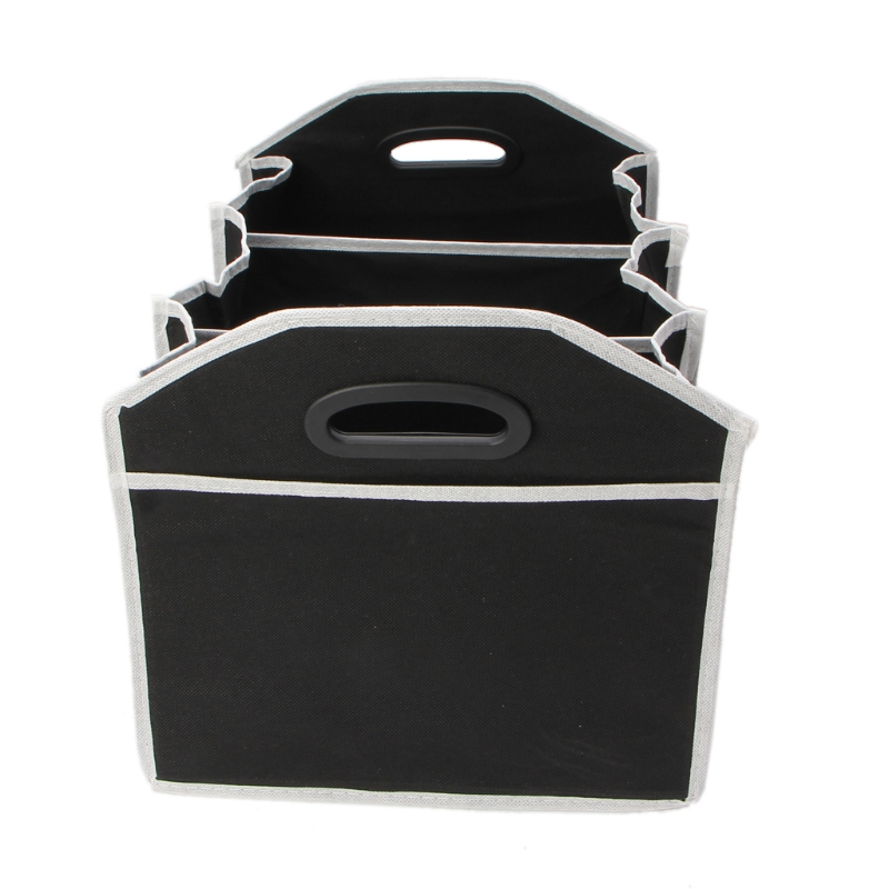 Collapsible Black Car Organizer Toys Food Storage Truck Cargo Container Bag Box Selected Material Automobiles & Motorcycles