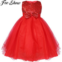 2 12year New High Quality Baby Sequins Princess Dress For Girl Elegant Birthday Party Dress Baby