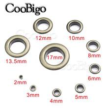 50sets Metal Antique Brass Eyelets with Grommet for Leathercraft Shoe Belt DIY Scrapbooking Cap Bag Tag Clothes Accessories