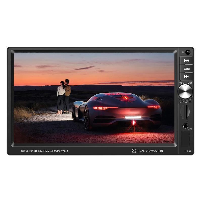 T8010B In Dash Car Stereo 7 inch Screen Bluetooth AUX USB FM Radio Head Unit 4.2CM Panel Hardware Depth 5.8CM 178x102x65mm