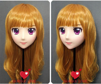 (DM118) Resin Girl Japan Anime Kigurumi Cosplay Masks Comic and Animation Mask Cosplay Women Cartoon BJD Crossdressing