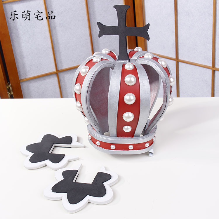Anime Cosplay One Piece Props Crown Perona Ghost princess Hat Caps