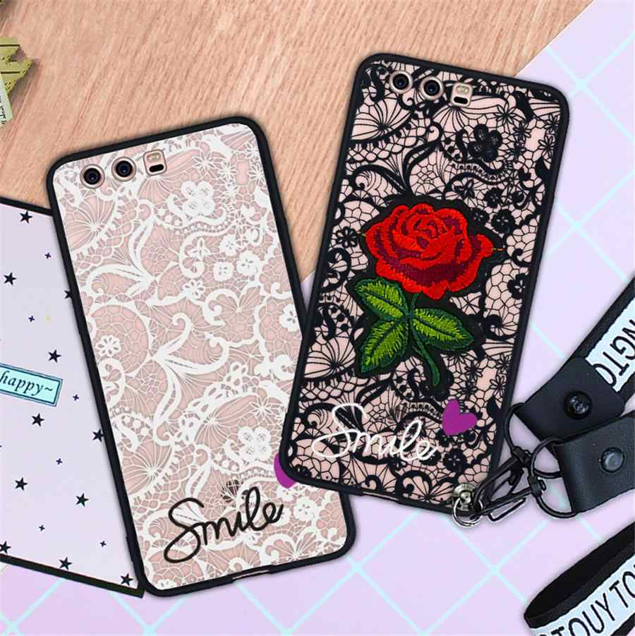 Love heart Lace Flower Case For Samsung galaxy A6 Plus 2018 J3 J5 J7 2015 2016 Note 3 4 5 S4 S5 S8 Plus Hard PC+TPU back Cover