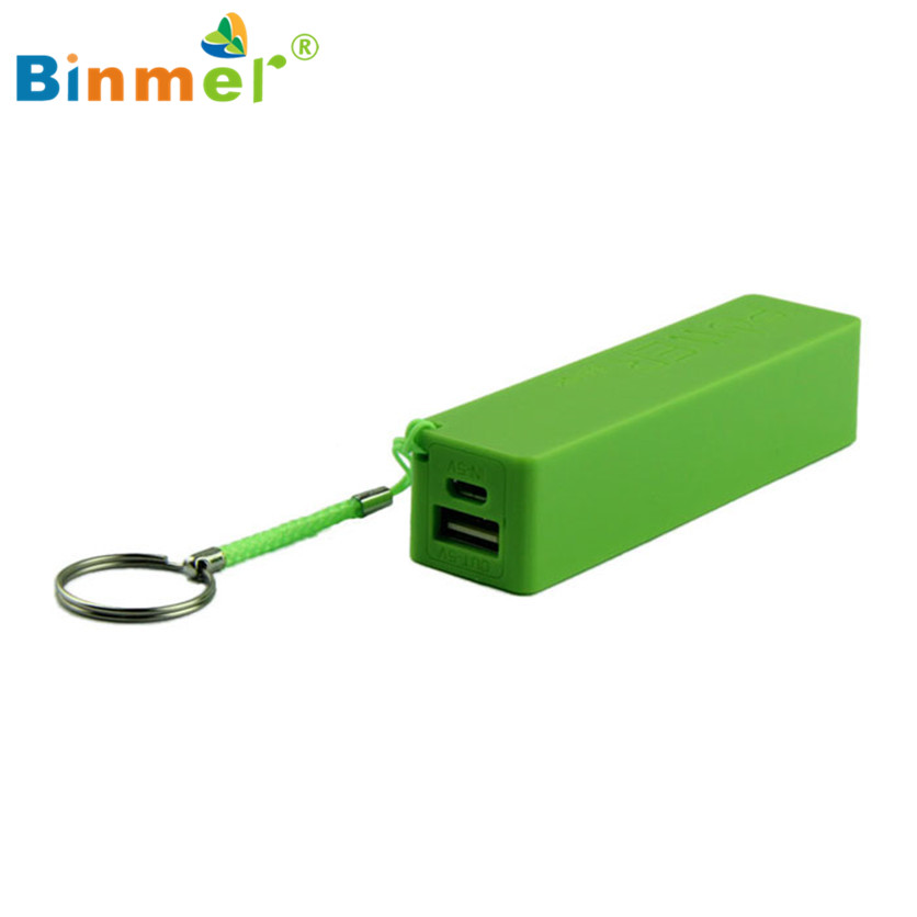 Dropshipping Battery Charger Portable Power Bank 18650 External Backup With Key Chain oct18 Binmer