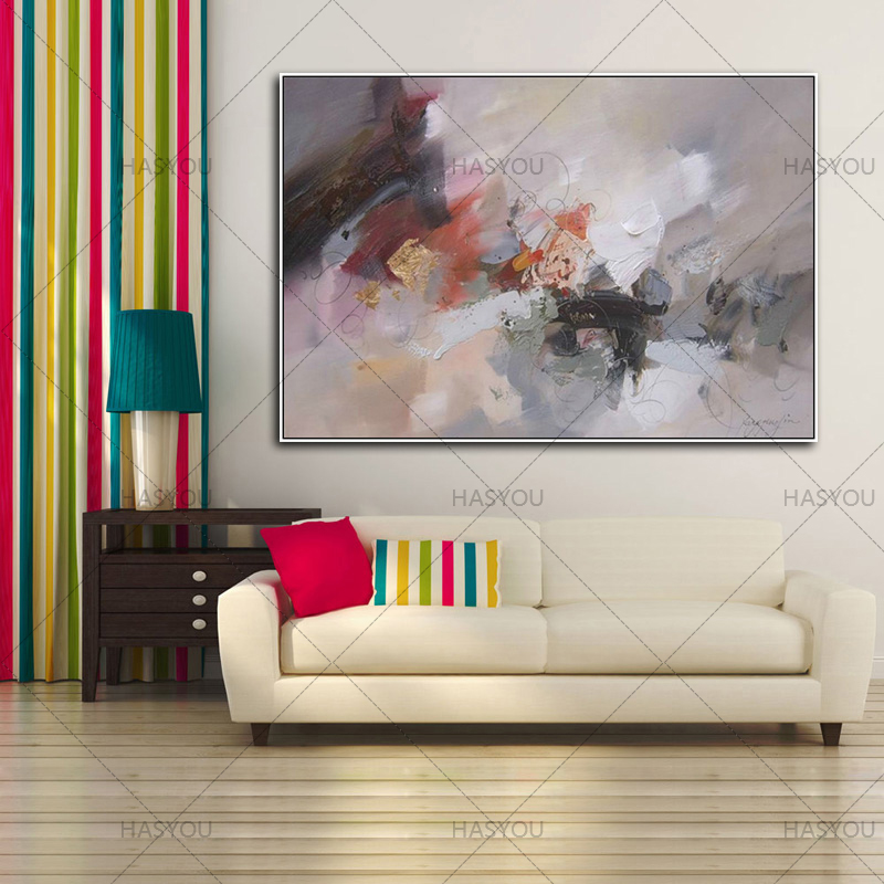 HASYOU 100% Handpainted Color Simple Abstract Canvas Art Oil Painting Wall  Picture For Living Room Decoration In Painting U0026 Calligraphy From Home U0026  Garden ...