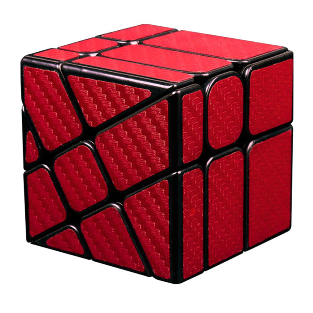 2019 New Arrivals  MF8830 Cubing Classroom Carbon Fiber Cube Wheel Funny Twisted Magic Cube Puzzle Toy For Challange - Red