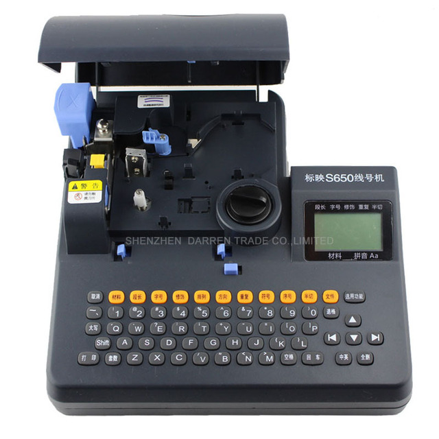 Shrinkable Tube Electronic Lettering Machine PVC Tube Printer Shrinkable Cable ID Printer Wire Marking Press Machine S-650