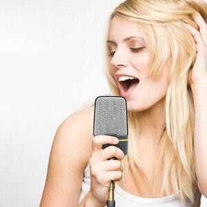 Image 3 - Micrófono de estudio Vocal profesional con cable de 3,5mm, micrófono con soporte Mikrofon para Skype, escritorio, PC, tableta, promoción de Karaoke