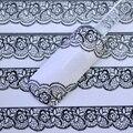 Venta caliente nueva 3D del arte del clavo negro cordón de la flor pegatinas diseño etiquetas engomadas del clavo etiquetas para Nail Decoration Tool Tips