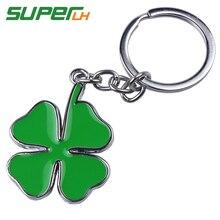 цена на 1pcs Fashion Green delta Car Keychain Key Chain Key Ring for Alfa Romeo quatrefoil 147 156 166 159 Giulietta Giulia Spider GT