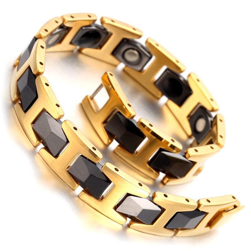 Tungsten Magnetic Hematite Mens Bracelet 8.2