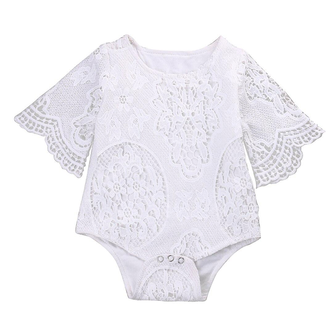 Leuke Pasgeboren Meisje Romper Kleding 0-24 M Baby Bebes Prinses Meisjes Kant Baby Rompertjes Jumpsuit Een Stukken Outfit Sunsuit
