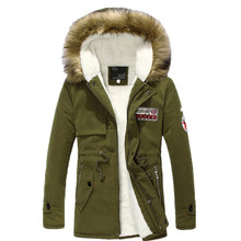 Men wear thick warm hooded fur collar long coat 2015 new autumn and winter high-quality casual men's parka jackets