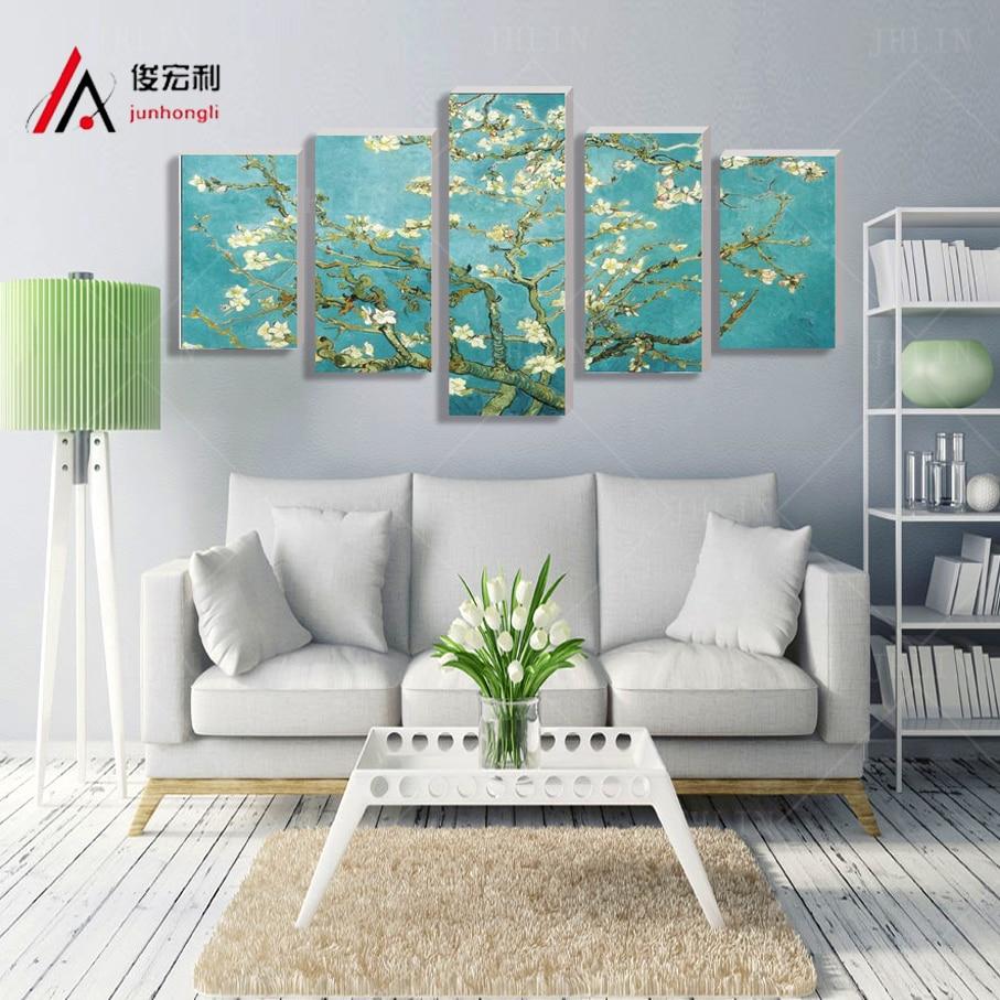 panel de rbol de manzana flores leo de la lona de impresin para sala de estar decoracin de la pared imagen estirada y enma