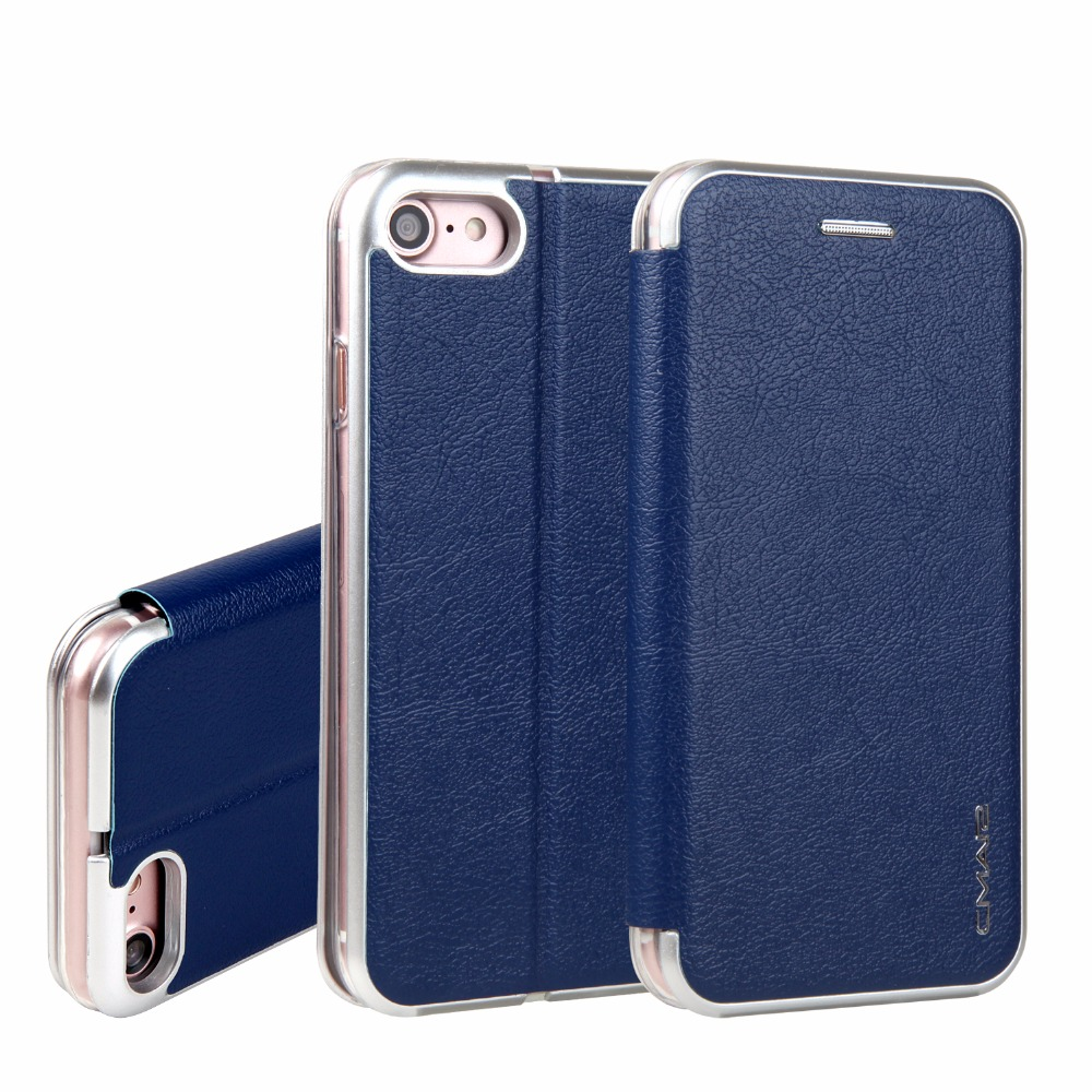 For iPhone 7 Case Luxury Brand Magnetic Flip with Card Holder Wallet Case Cover for iPhone 7 7Plus 6 6S/6 Plus / 6S Plus Coque