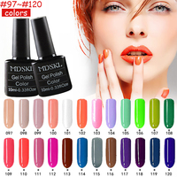 MDSKL 132 Solid Color Gel Nail Polish LED UV Gel Long-lasting Soak-off UV Gel Nail Varnish 10ML Nail Glue