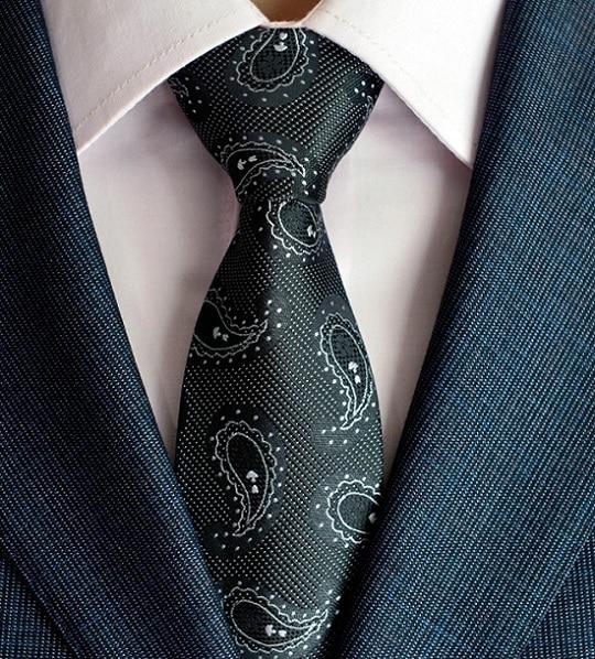 kuuma paisley solmio miesten 100% silkki solmiot suunnittelijoiden - Vaatetustarvikkeet - Valokuva 5