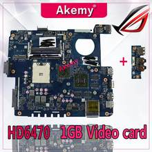 Akemy usb board+LA-7552P REV:1.0 Laptop motherboard for ASUS K53TA K53TK K53T K53 Test original mainboard 1GB Video card HD6470(China)