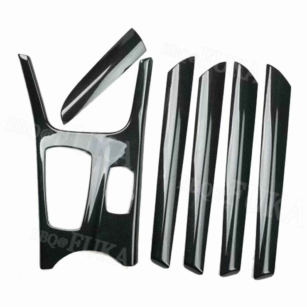 For BMW X3 F25 X4 2011-2016 Carbon Fiber Style Car Interior Kit Gear Door Panel Set Cover Trim