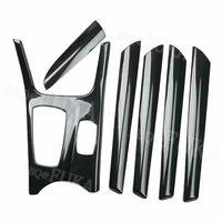 For BMW X3 F25 X4 2011 2016 Carbon Fiber Style Car Interior Kit Gear Door Panel Set Cover Trim